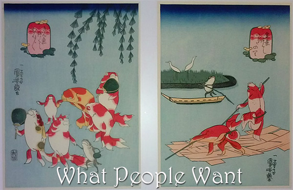 Utagawa Kuniyoshi - Raft riders